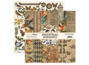 ScrapBoys Industrial Romance 12x12 Inch Paper Set (INRO-08)