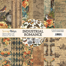 ScrapBoys Industrial Romance 6x6 Inch Paper Pad (INRO-09)