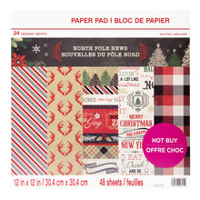 Craft Smith North Pole News 12x12 Inch Paper Pad (MSE4850)