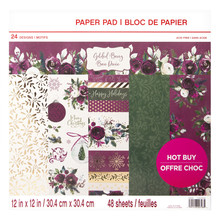 Craft Smith Gilded Berry 12x12 Inch Paper Pad (MSE4853)