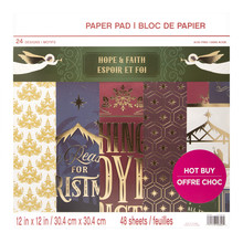 Craft Smith Hope & Faith 12x12 Inch Paper Pad (MSE4855)