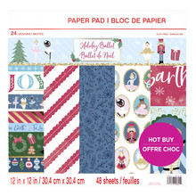 Craft Smith Holiday Ballet 12x12 Inch Paper Pad (MSE4856)