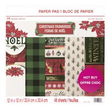 Craft Smith Christmas Farmhouse 12x12 Inch Paper Pad (MSE4858)