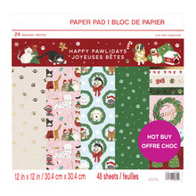 Craft Smith Happy Pawlidays 12x12 Inch Paper Pad (MSE4860)