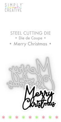 Simply Creative Merry Christmas Die (SCDIE123X19) OP=OP!