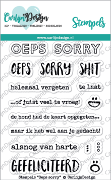 CarlijnDesign Clear Stamps Oeps Sorry (CDST0038)