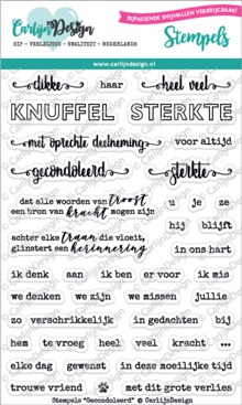 CarlijnDesign Clear Stamps Gecondoleerd (CDST0033)