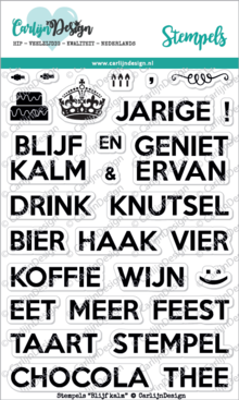 CarlijnDesign Clear Stamps Blijf Kalm (CDST0034)