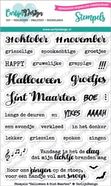 CarlijnDesign Clear Stamps Halloween & Sint Maarten (CDST0035)