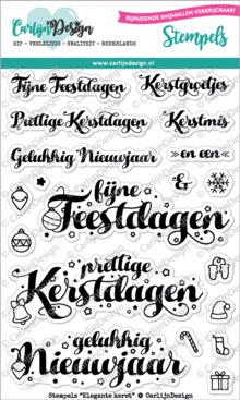 CarlijnDesign Clear Stamps Elegante Kerst (CDST0036)