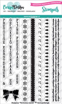 CarlijnDesign Clear Stamps Verticale Kerst (CDST0038)