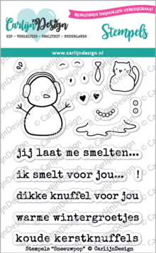 CarlijnDesign Clear Stamps Sneeuwpop (CDST0040)