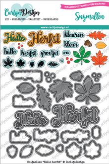 CarlijnDesign Snijmal Hallo Herfst (CDSN-0022)