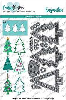 CarlijnDesign Snijmal Kerstbomen Versieren (CDSN-0029)