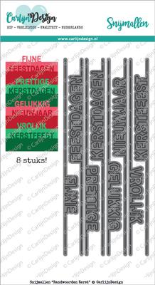 CarlijnDesign Snijmal Randwoorden Kerst (CDSN-0033)