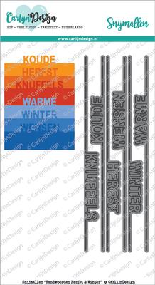 CarlijnDesign Snijmal Randwoorden Herfst & Winter (CDSN-0034)