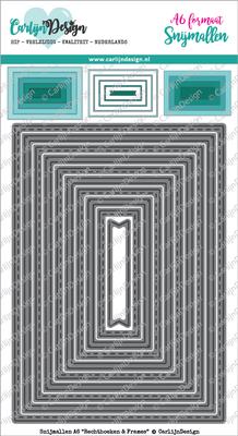 CarlijnDesign Snijmal A6 Rechthoeken & Frames (CDSN-0037)