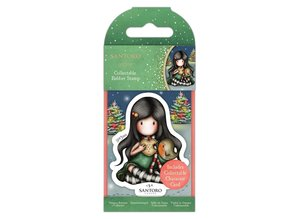 Gorjuss Collectable Mini Rubber Stamp No.81 Christmas Friend (GOR 907346)