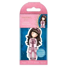 Gorjuss Collectable Mini Rubber Stamp No.83 Goodnight Gorjuss (GOR 907348)