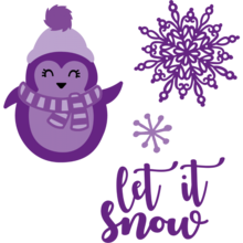 Gemini Christmas Penguin Stamp & Die (GEM-STD-PEC)