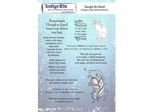 IndigoBlu Laugh So Hard A5 Rubber Stamp (IND0569)