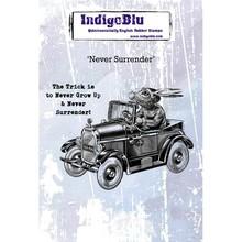 IndigoBlu Never Surrender A6 Rubber Stamp (IND0558)