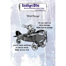 IndigoBlu Wild Things A6 Rubber Stamp (IND0559)