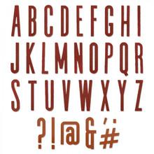 Sizzix Thinlits Alterations Alphanumeric Classic Upper (664223)