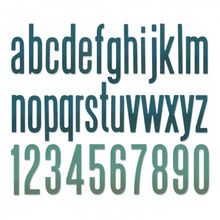 Sizzix Thinlits Alterations Alphanumeric Classic Lower (664224)