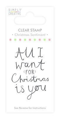Simply Creative Christmas Sentiment Clear Stamp (SCSTP004X19)