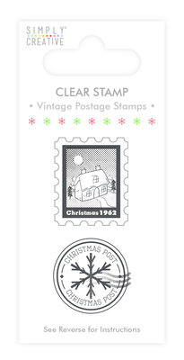 Simply Creative Vintage Postage Clear Stamps (SCSTP005X19)