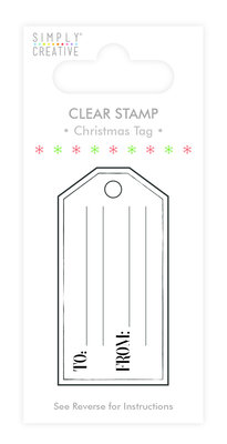 Simply Creative Christmas Tag Clear Stamp (SSCSTP007X19)