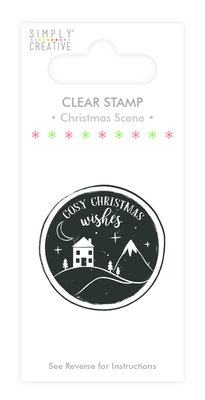Simply Creative Christmas Scene Clear Stamp (SCSTP008X19)