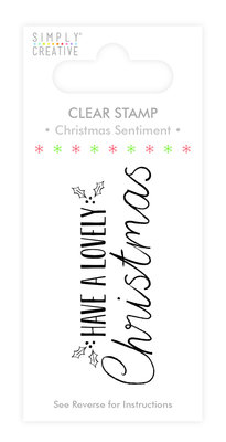 Simply Creative Lovely Christmas Clear Stamp (SCSTP010X19)