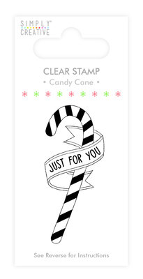 Simply Creative Candy Cane Clear Stamp (SCSTP011X19)