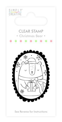 Simply Creative Christmas Bear Clear Stamp (SCSTP012X19)