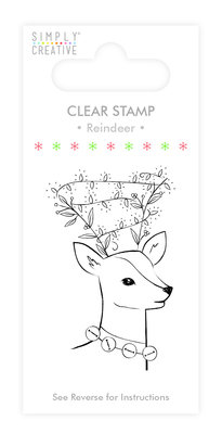 Simply Creative Reindeer Clear Stamp (SCSTP013X19)