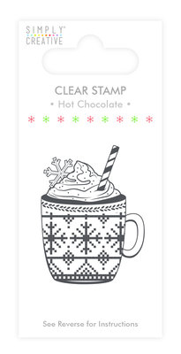 Simply Creative Hot Chocolate Clear Stamp (SCSTP014X19)