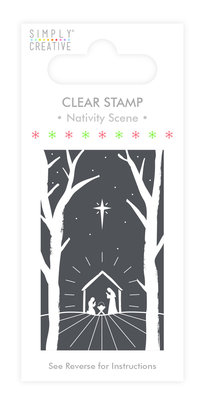 Simply Creative Nativity Scene Clear Stamp (SCSTP016X19)
