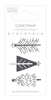 Simply Creative Christmas Trees Clear Stamps (SCSTP017X19)