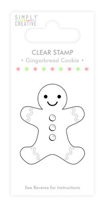 Simply Creative Gingerbread Cookie Clear Stamps (SCSTP018X19)