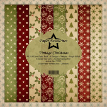 Paper Favourites Vintage Christmas 12x12 Inch Paper Pack (PF302)