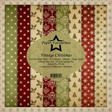 Paper Favourites Vintage Christmas 6x6 Inch Paper Pack (PF102)