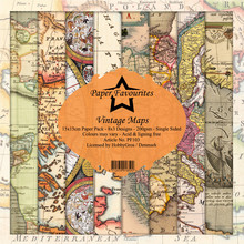Paper Favourites Vintage Maps 6x6 Inch Paper Pack (PF103)