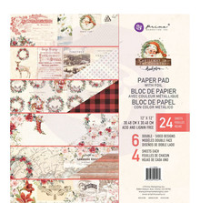 Prima Marketing Inc Christmas In The Country 12x12 Inch Paper Pad (995270)