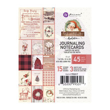 Prima Marketing Inc Christmas In The Country 3x4 Inch Journaling Cards (995317)