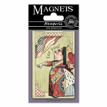 Stamperia Alice Queen of Hearts 8x5.5cm Magnet (EMAG011)