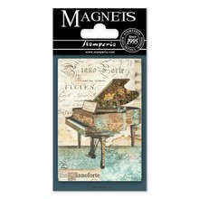 Stamperia Music Piano 8x5.5cm Magnet (EMAG010)