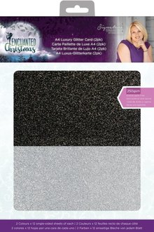 Crafter's Companion Enchanted Christmas Luxury Glitter Card A4 (2pk) (S-EC-GLIT2PK)