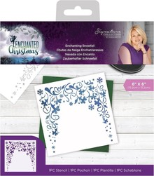 Crafter's Companion Enchanted Christmas 6x6 Inch Stencil Enchanting Snowfall (S-EC-STEN-ESNO)